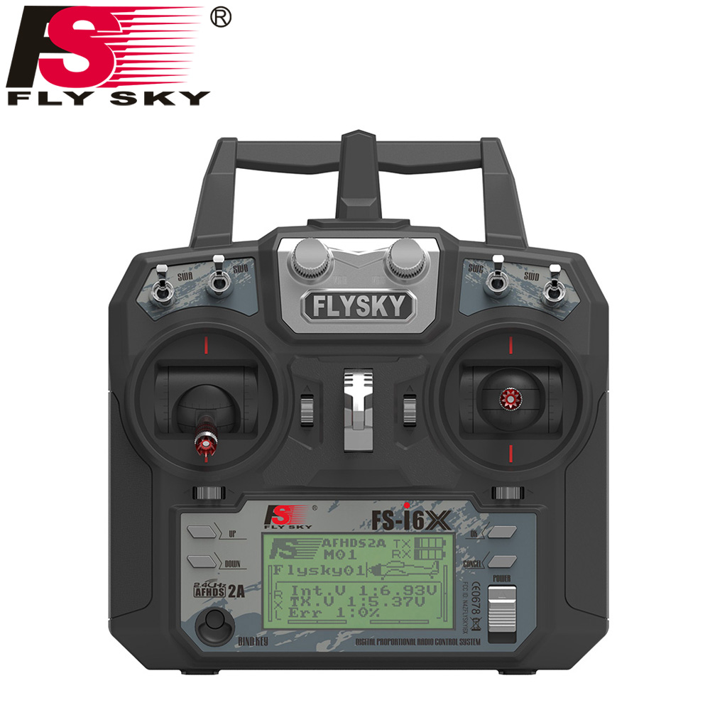 Image 2 - Fly Sky FS i6X 10CH 2.4GHz AFHDS 2A RC Transmitter With FS iA6B FS iA10B FS X6B FS A8S Receiver For Rc Airplane Drone Quadecopte-in Parts & Accessories from Toys & Hobbies
