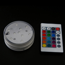 10 pcs 16 colors water proof 4.5V led light and remote control for hookah spiral art shisha accessories glass