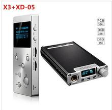 New Hifi Music MP3 Player Portable XDuoo X3 + XD 05 32bit/384khz Audio DAC Headphone Amplifier AMP DSD Decoding