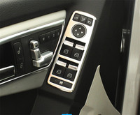 5pcs ABS Chrome Door Window Switch Button Panel Cover Trim For BENZ A W176 B W246 C W204 E W212 CLA W117 CLS W218 GLK X204