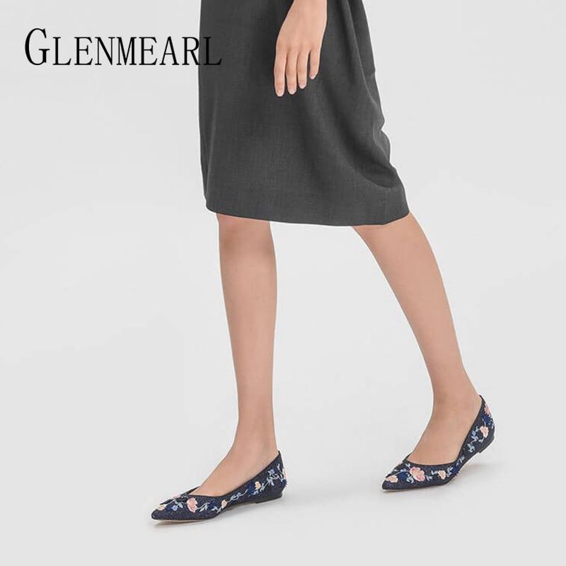 Femmes Chaussures Appartements Bout Flats Sur Silver black Paillettes Profonde Noce Flats Mocassins Tissu Casual Pointu Dames La En Femelle Slip Brodés Peu fdfrwqZE