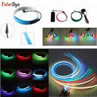 Nuevo 1 M LED Flexible de neón brillo EL cinta straping electroluminiscente cinta Cable impermeable tira de luces led