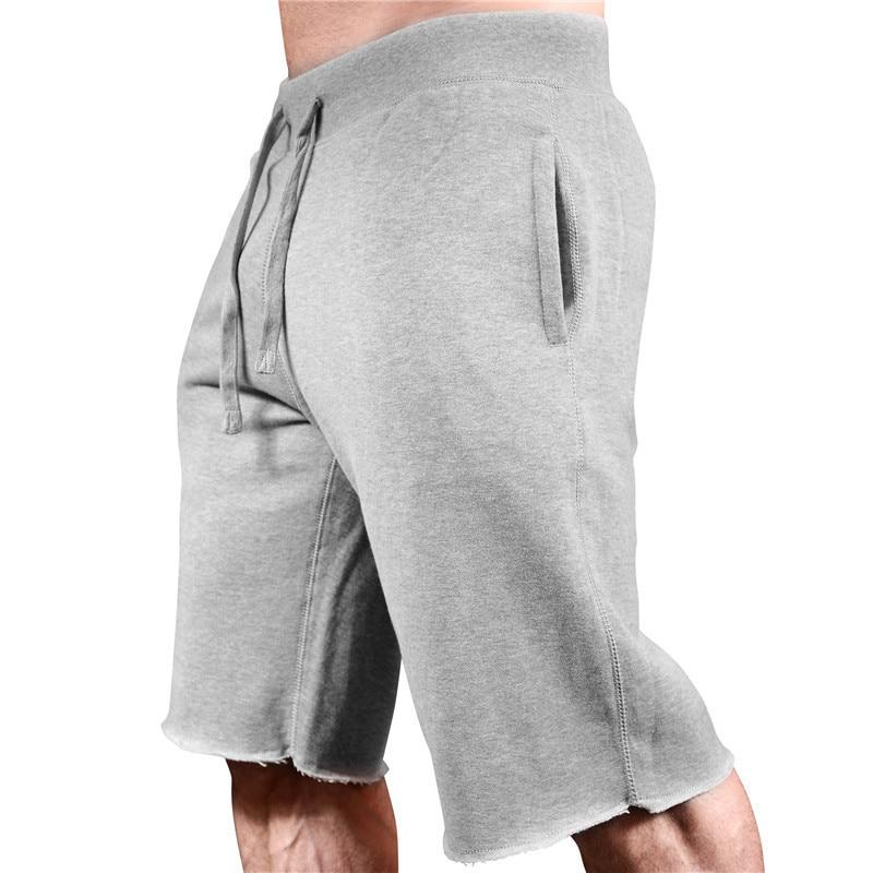2019New Fashion Men Sporting Beaching Shorts Trousers Cotton Bodybuilding Sweatpants Fitness Short Jogger Casual Gyms Men Shorts