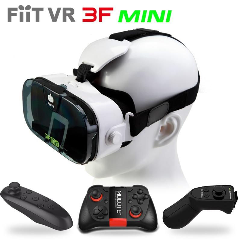 Fiit VR 3F Mini Virtual Reality 3D Glasses Helmet VR 3D Movie Glasses Headset Box Cardboard