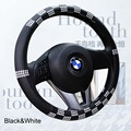 HoundstoothCar Steering Wheel Cover PU Leather 38cm Cheap & Free Shipping