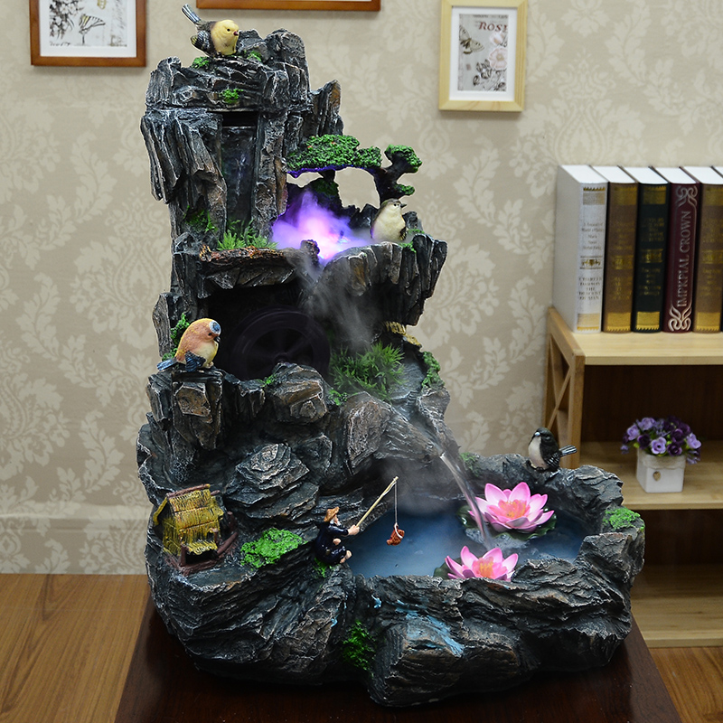 Ica Home Decor: Ica Rockery Water Tank Bonsai Fountain Living Room