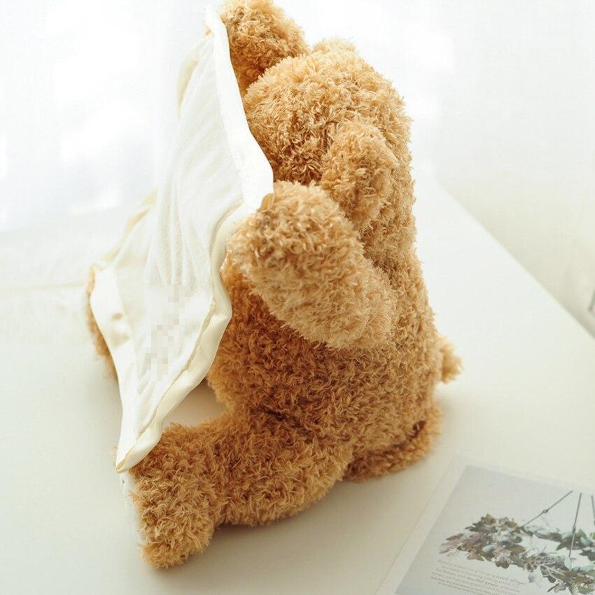 NEWSET Peek A Boo Teddy Bear Stuffed Animals Plush Doll Music dog Educational Anti stress Electric