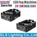 SLSLITE (2PCS) 1500W Led Fogger Smoke Machine LED Fog Machine Stage Haze Machine