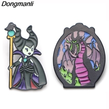 P3702 Dongmanli Funny Maleficent Queen Enamel Pins and Brooches for Lapel Pin Backpack Bags Badge Cute Gifts Collar Jewelry