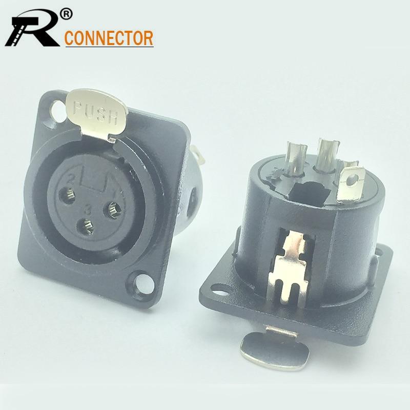 Wireless system guitar connector 3 Pole Rean RT3FCB Tiny Mini Female XLR plug