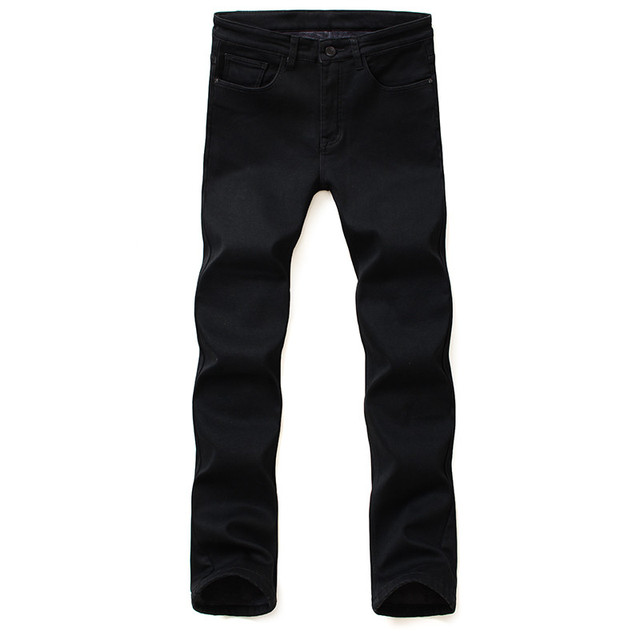 Brands Jeans Trousers Men Clothes 2018 New Black Elasticity Skinny Jeans Business Casual Male Denim Slim Pants Classic Style 2
