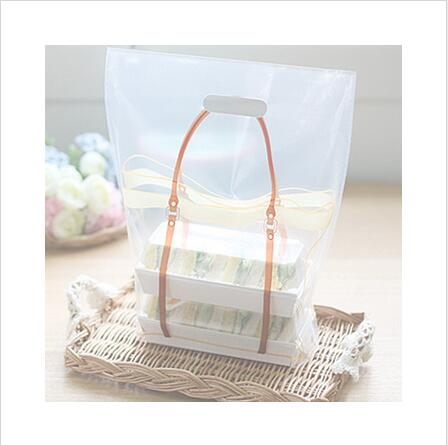 Take out bag bakery food package plastic bag cookie box bread sandwich hand portable big size