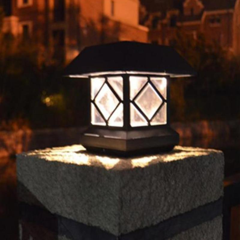 Waterproof Solar Power Wall Lamp Outdoor Garden LED Solar Light Lawn Landscape Lamp for pillars garden fences decor