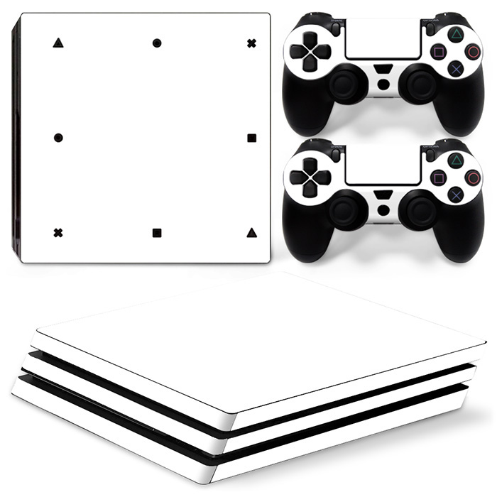 White Skin Sticker for PS4 PRO Console and controller