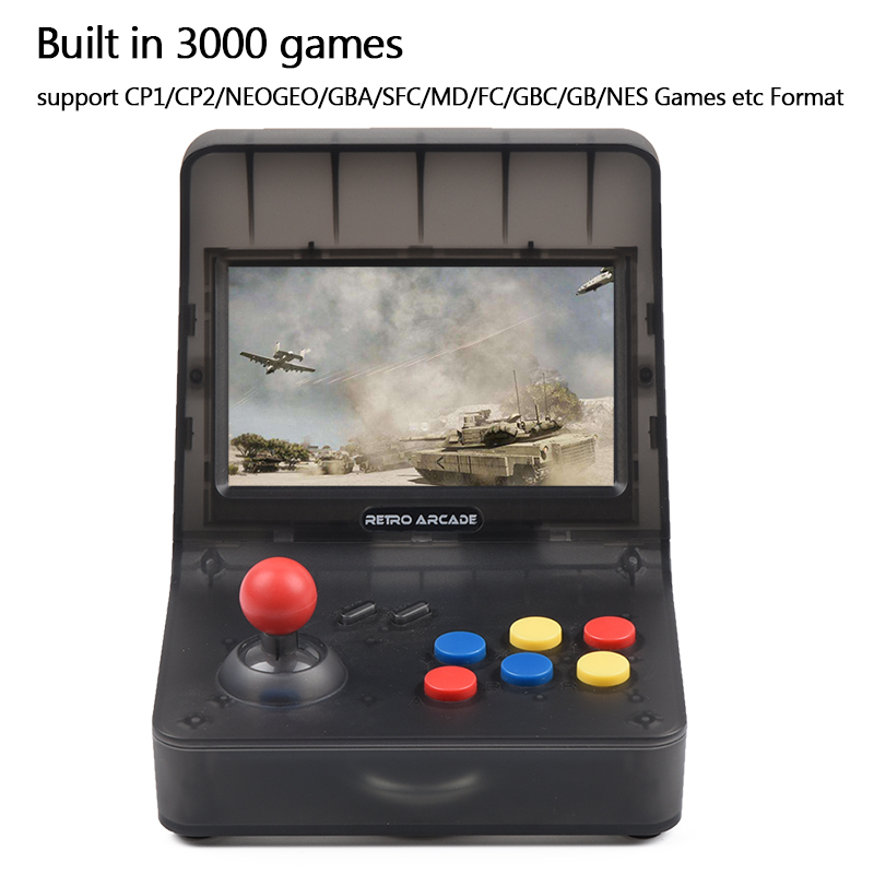 Pow kiddy x18 android 7.0 5.5 Polegada tela lcd jogo console 2g ram 16g rom clássico jogador de vídeo para psp dc gba md s fc arcad - 5