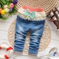 Брюки новое поступление классический весна осень девушки джинсы мода брюки детские мягкие джинсовые 0-2Y