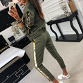 BKLD Fall Outfit Women 2018 Casual Tracksuit Women 2 Piece Set Top And Pants Sequined Patchwork Zipper Outwear Sexy Sweat Suit