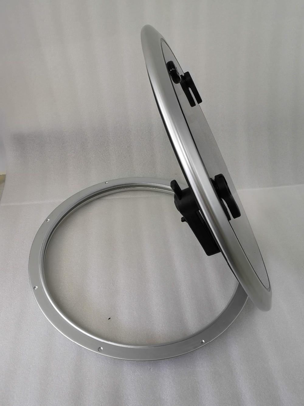 "Ventana De Cubierta Redonda De Aluminio De 24,6 ""de 625mm De Diámetro Con Vidrio Templado De Humo Para Barco Marino"