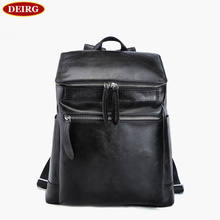 Nature Genuine Cow Leather Black Men Woman Backpack Humanized Design Travel Pack Weekend Trip Laptop Bag PR093127