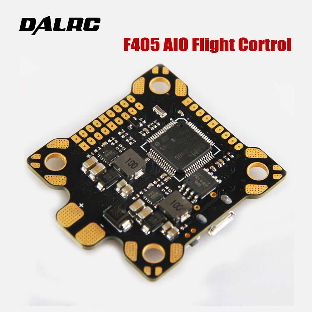 DALRC F405 AIO Flight Control high quality MCU STM32F405RGT6 Built in OSD BEC 9V/3A PDB for DIY Racing Drone Quadcopter matek f405 with osd betaflight stm32f405 flight control board osd for fpv racing drone quadcopter