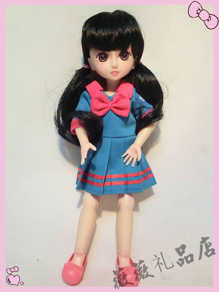 ФОТО 1/6 cute School uniforms doll 12inch BJD doll can make up, dress up  toy for girl gift
