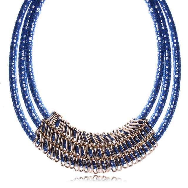 Collier mulheres corrente de prata chunky declaração colar colar colares LN062 turco