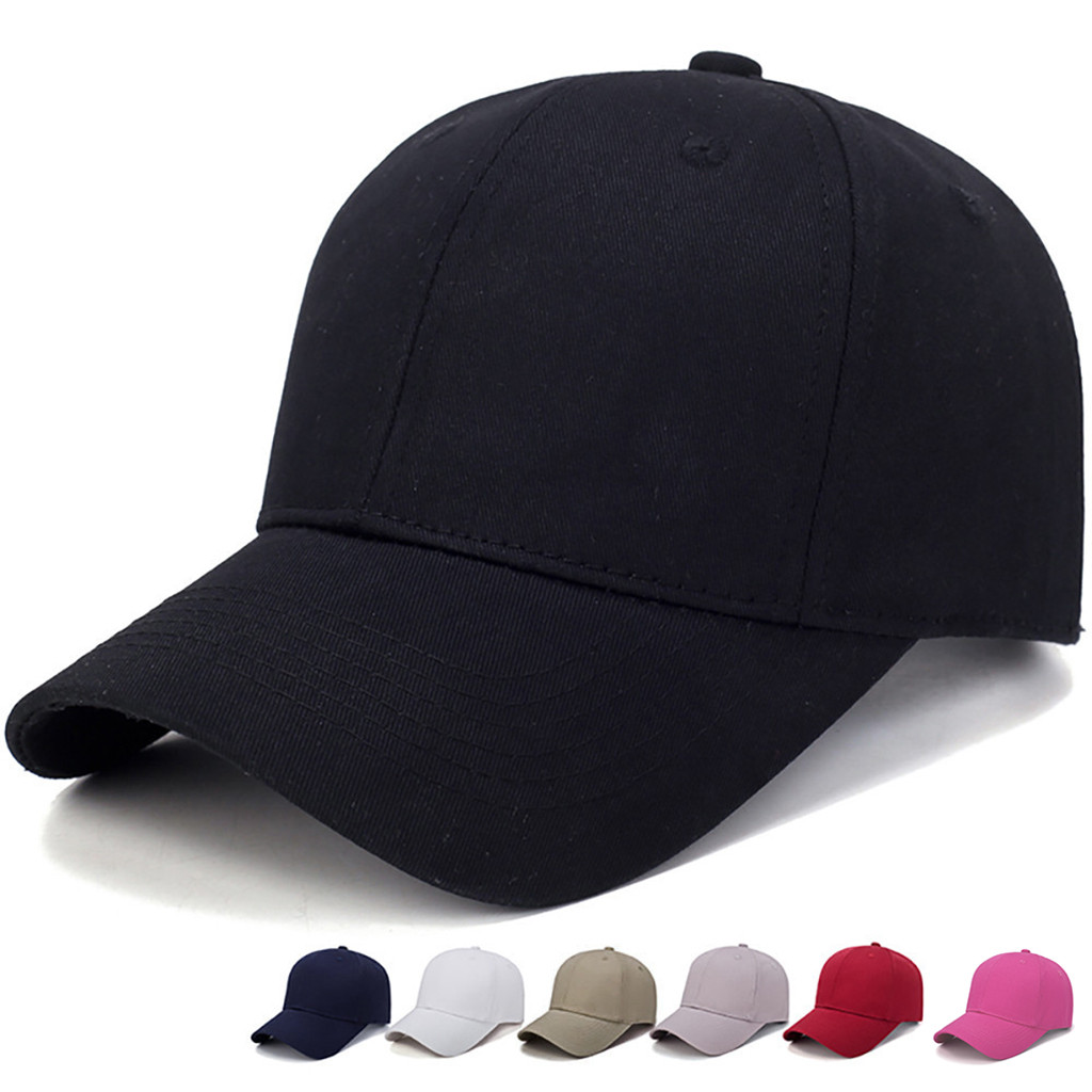 Women Men Hat Cotton Light Board Solid Color   Baseball     Cap   Men   Cap   Outdoor Sun Hat Adjustable Sports   caps   in summer