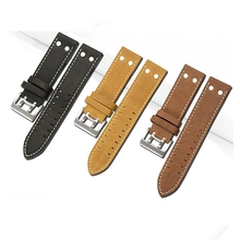 MERJUST Calf Genuine Leather Watch Band For Hamilton KHAKI FIELD