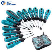 PENGGONG Screwdriver Set Torx Magnetic Phillips Y Type Screw Driver Kit For Household Repair Tools 13PCS With Tool Bag