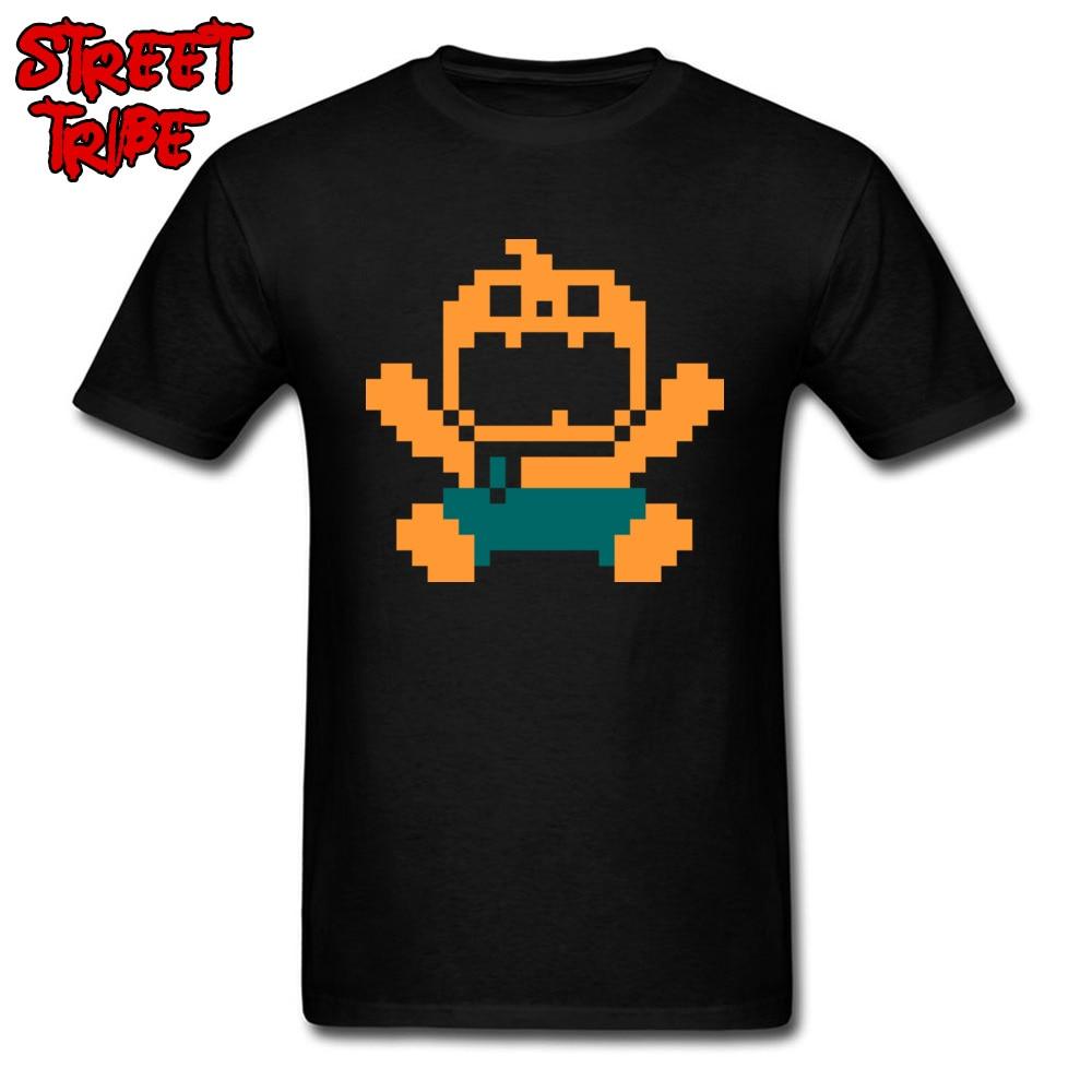 Halloween Shirt Mens T-shirts RIP PUMPKIN MAN T Shirts Simple Style Guys Clothes Lad Black Tops Game Tees Special Design Tshirt