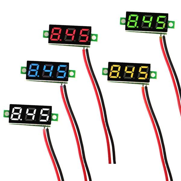 0.28 Inch 2.5V-30V Mini Digital Voltmeter Voltage Tester Meter LED Screen Electronic Parts Accessories