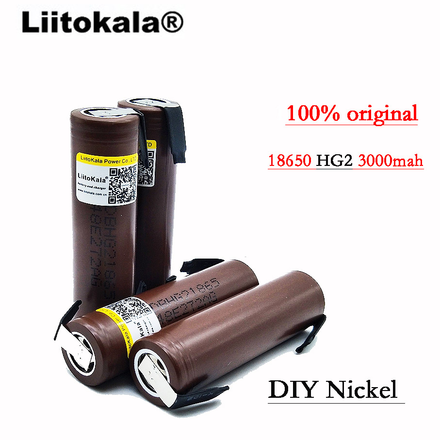 Image 4 - 2019 8PCS/Lot Liitokala  HG2 18650 3000mAh battery 18650 HG2 3.6V discharge 30A, dedicated DBHG2 batteries + DIY Nickelliitokala 18650liitokala batterylg hg2 - AliExpress