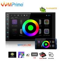 AMPrime 2din Autoradio Android Car Multimedia Player 2 din Universal GPS Mirrorlink Car Radio Wifi Bluetooth Stereo Audio Player