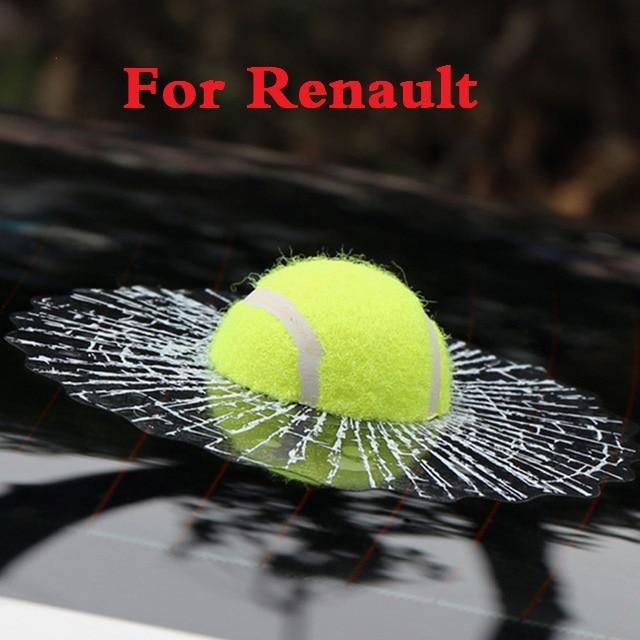 NEW Car-styling 3D Tennis Baseball Hit The Glass Sticker for Renault Sandero RS Symbol Talisman Twingo Twizy Vel Satis Wind ZOE коктейль белковый dietelle satis ваниль 5 саше