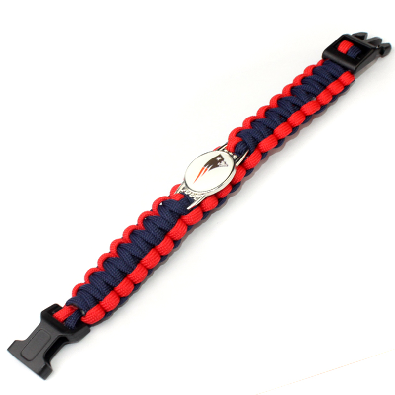 30# Team Cleveland Indians Paracord Survival Bracelet Baseball Fans Friendship Outdoor Camping Sports Bracelets