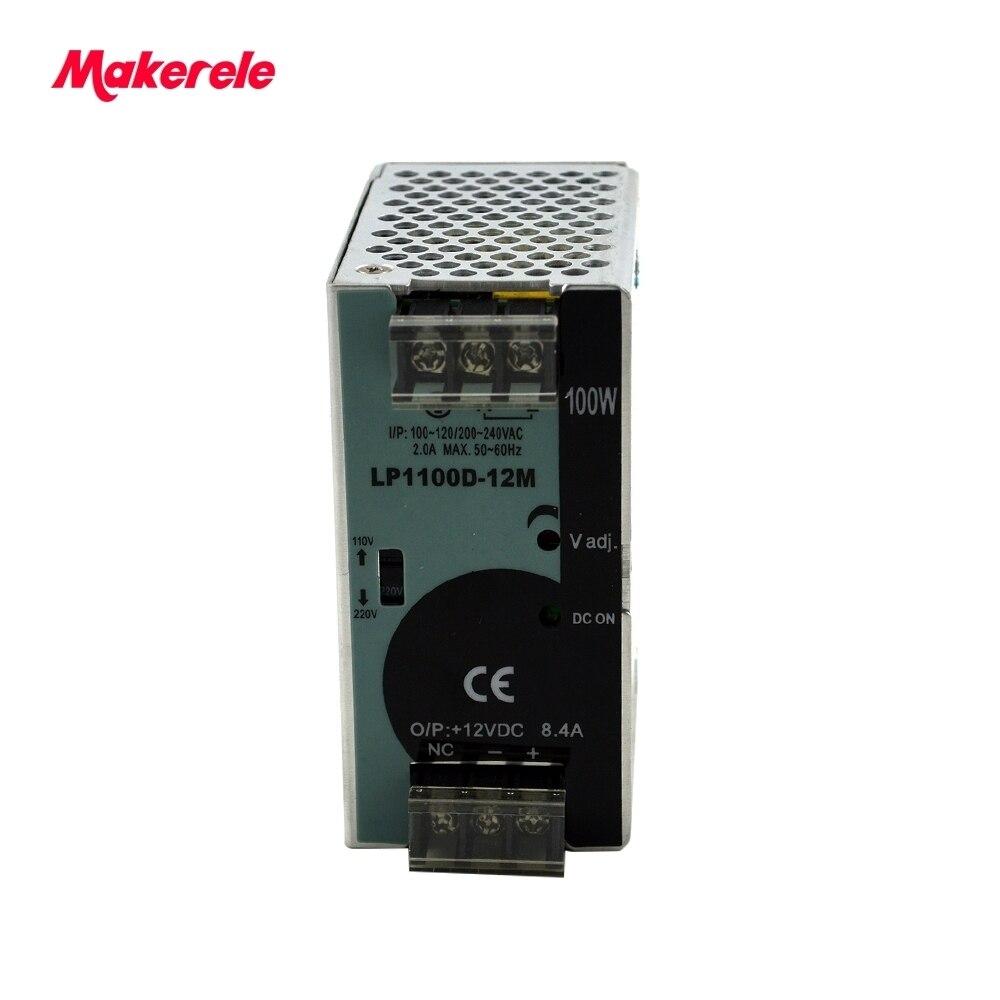 100W Din Rail Single Output ac-dc power supply switching for CCTV camera LED Strip light AC DC 110V/220V input high efficiency