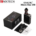 E Cigarettes Smok Micro One 150 Kit with R150 TC Smoktech Box Mod Vape 150W and 4ml Minos Sub Tank  Support SS Ni200 Ti Wire