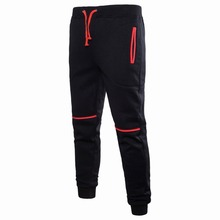 HOT2018 Outdoor spring autumn hip hop color patchwork Drawstring sport jogging running elastic waist sweatpants men GYM trousers