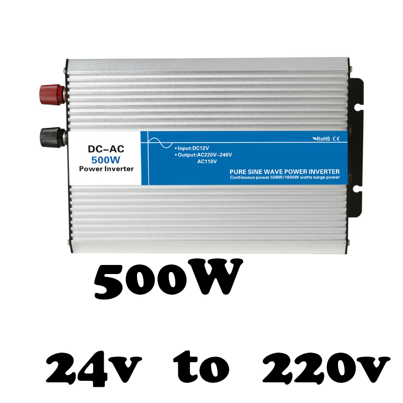 цена на AG500-24-220 off grid pure sine wave 500w power bright inverter 24vdc 220vac inversor,voltage converter,solar inverter