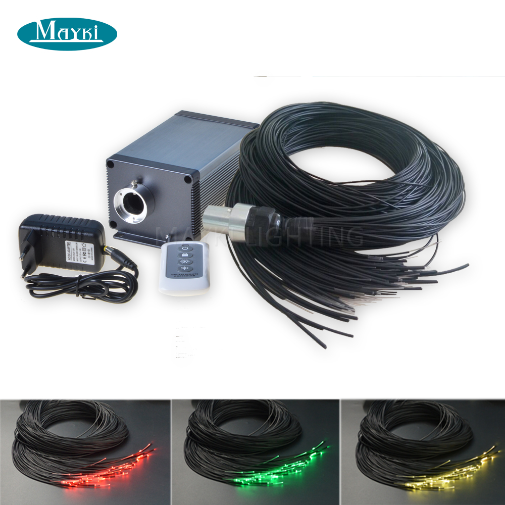 Maykit Cree Chip 5W LED Low Voltage Lighting Sauna Room Using With 80pcs 1.5mm Thickness 2m Waterproof Fiber Dim Remote Control