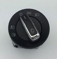For VW Golf MK4 Jetta 4 Bora 1998 2008 Passat B5 Chrome Headlight Switch Fog Head