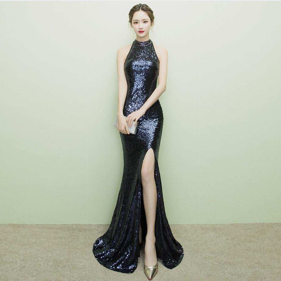 Sexy Cheongsam Long Evening Dress Traditional Chinese
