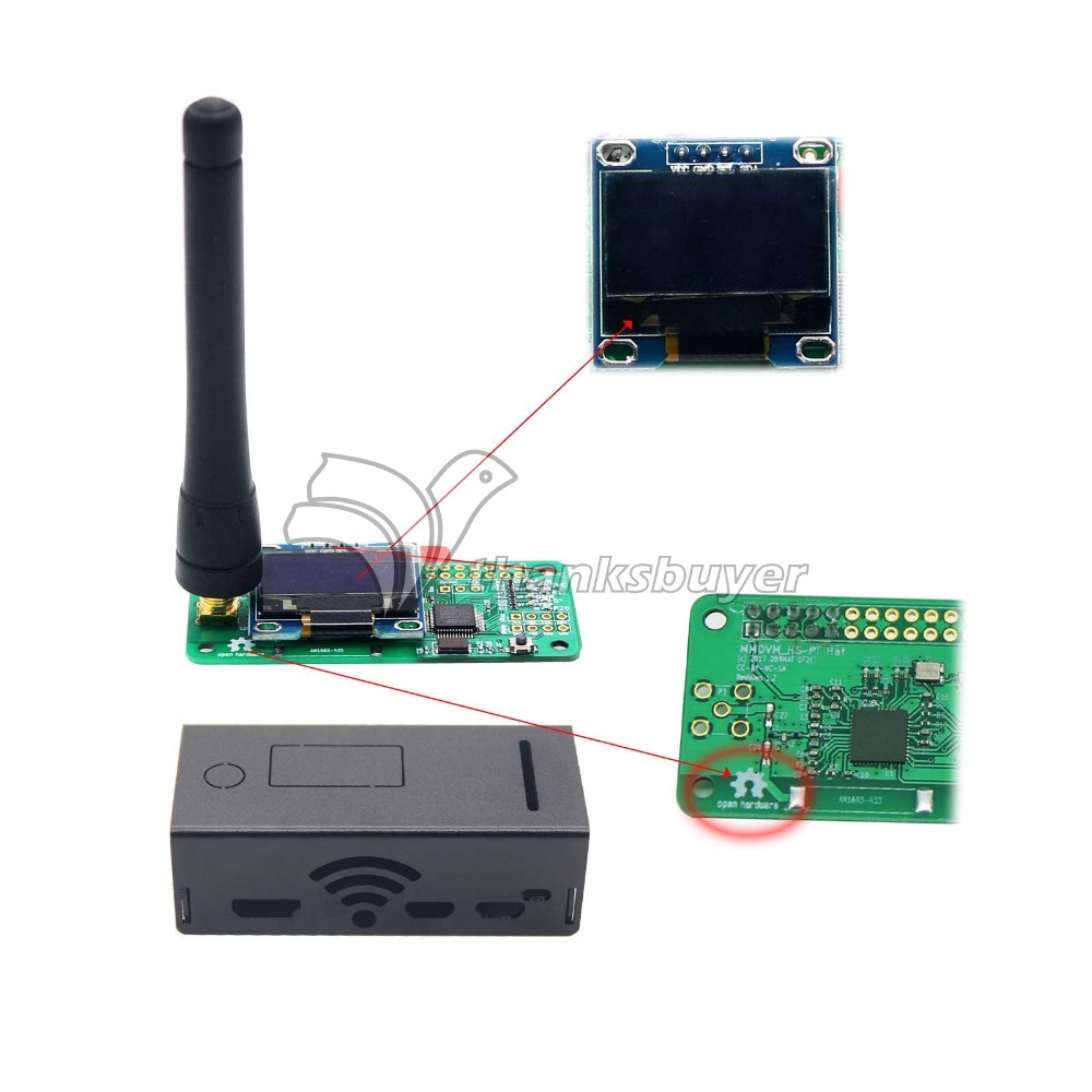 2018 UHF&VHF Antenna Aluminum Shell MMDVM Hotspot+OLED+Case Support P25 DMR YSF for raspberry pi Hotspot аквабокс aquapac large vhf classic case 248