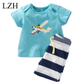 LZH Toddler Boys Clothing 2017 Baby Boys Summer Clothes T-shirt+Shorts Boys Clothes Set Kids Sport Suit Children Clothing Sets