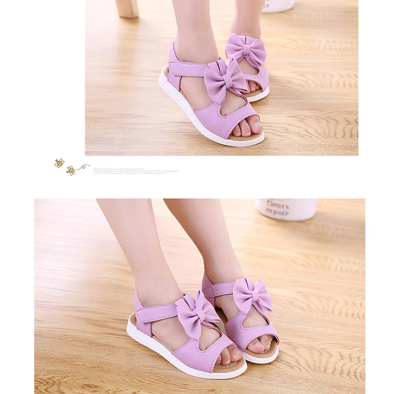 NEW Summer Kids Children Girls Sandals Shoes Bowknot Girls Flat Princess Shoes Children Girls Shoes