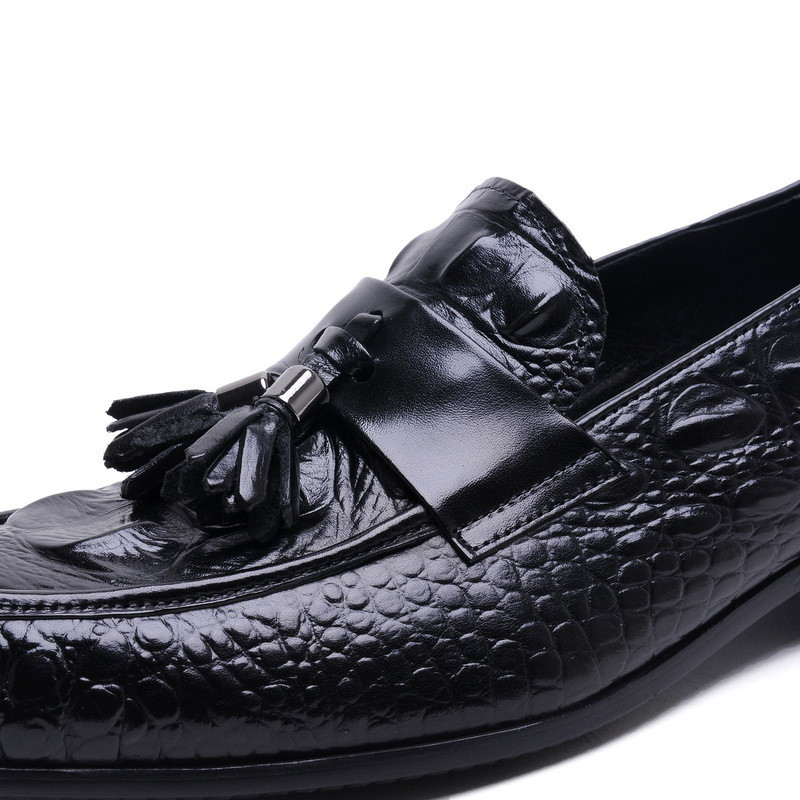 Обувь с очень высоким подъемом 12 см; Мужская обувь из спилка, визуально увеличивающая рост; повседневная обувь в деловом стиле; мужские свад... - 6