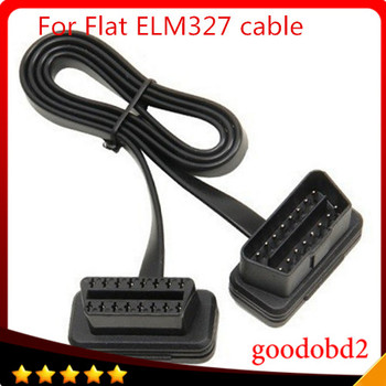 Car cables For Fiat Thin As Noodle Cable OBD OBD2 OBDII 16Pin Male to Female Diagnostic Tool ELM 327 Extension Connector Cables цена 2017