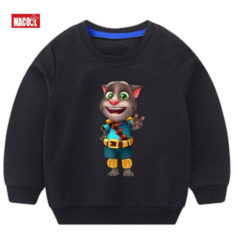 New Leisure Girls Autumn Sweatshirt Long Sleeve 3T 8T Can Speak Cat Printed Hoodies Tracksuit Outerwear Sweatshirt 3 14y in Hoodies Sweatshirts from Mother Kids