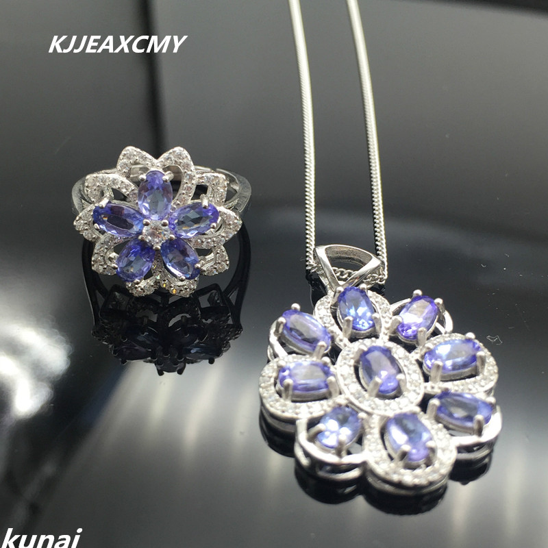 KJJEAXCMY Fine jewelry, colorful jewelry, 925 silver inlaid natural Tan Tao stone set, simple and generous wholesale female modeKJJEAXCMY Fine jewelry, colorful jewelry, 925 silver inlaid natural Tan Tao stone set, simple and generous wholesale female mode