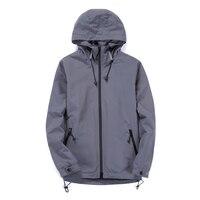 2017 Spring Jacket Men Fashion New Mens Casual Hooded Jacket Windproof Waterproof Mens Coats Windbreaker Jacket